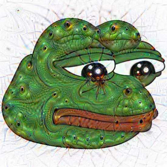 Pepe The Frog Deep Dream
