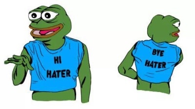 Pepe The Frog Hi hater - Bye hater