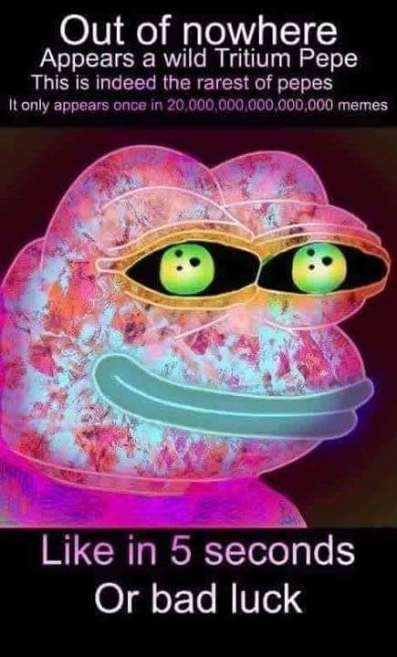 Tritium Pepe - The rarest of pepes