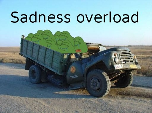 Pepe The Frog Sadness overload