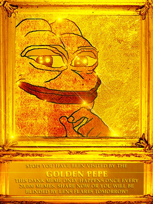 Pepe The Frog Golden Pepe