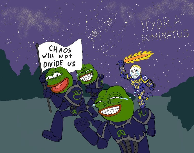 Pepe The Frog Chaos will not divide us - Hydra dominatus